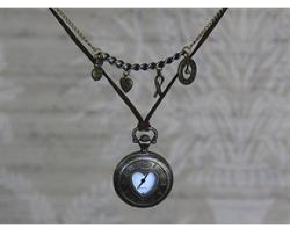 Chic Antique Smykkeur med hjerte Messing-31