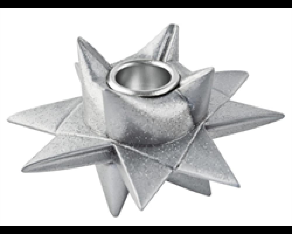 Medusa Star Factory Sølvglimmer Lysestage til Kronelys-31