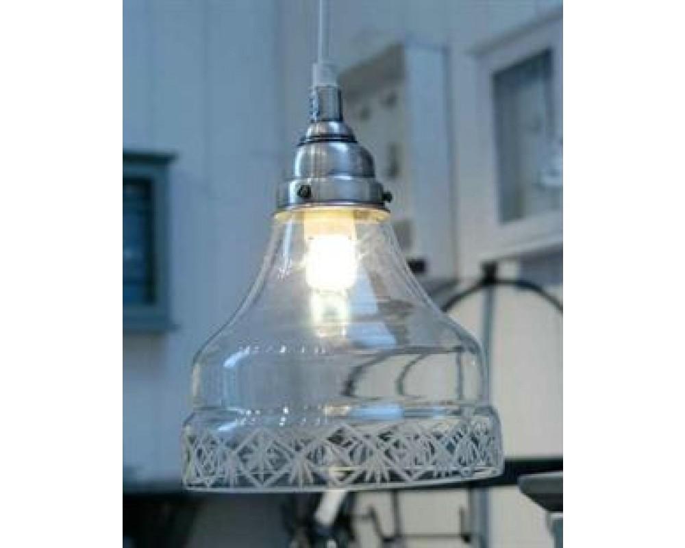 Hængelampe m/ Slebet glaskant-31