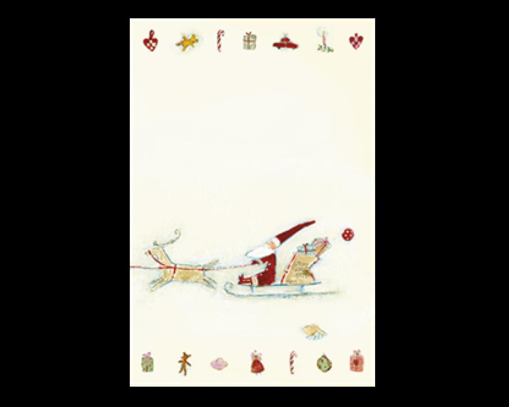 Maileg Til/Fra Kort Julemand på Slæde.-31