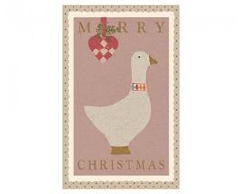 Maileg Julekort Lyserød gås, dobbelt kort-31