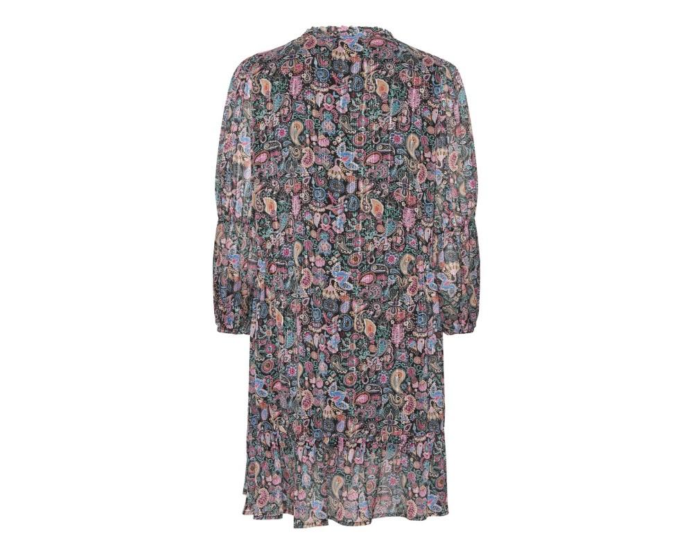 kort kjole multicolour continue