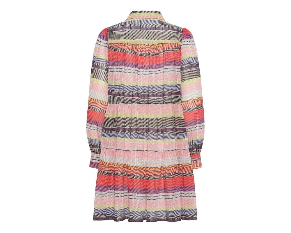 kort kjole i friske farver continue