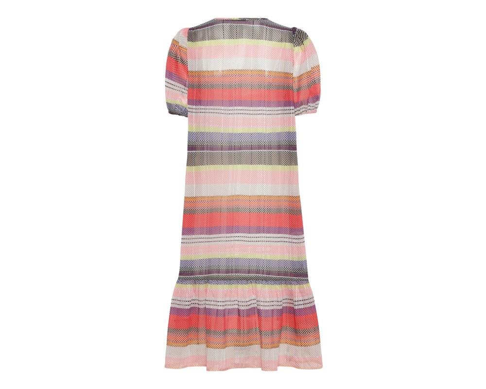 kortærmet kjole i friske farver continue