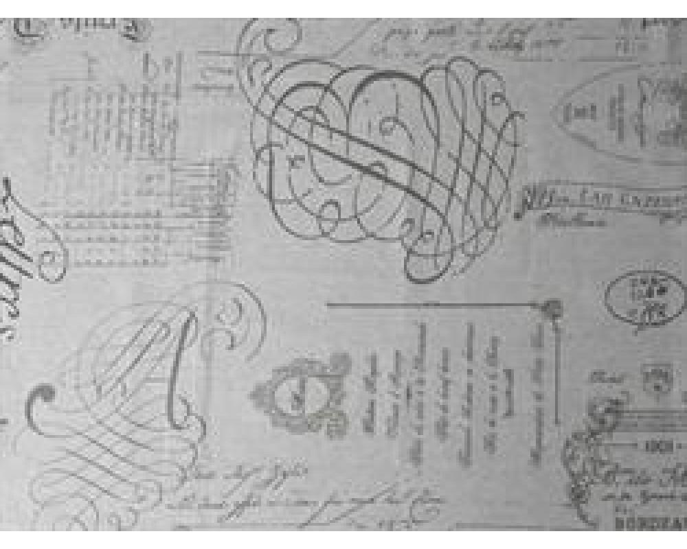 Chic Antique Voksdug M/ Fransk Print B 140 cm.-31