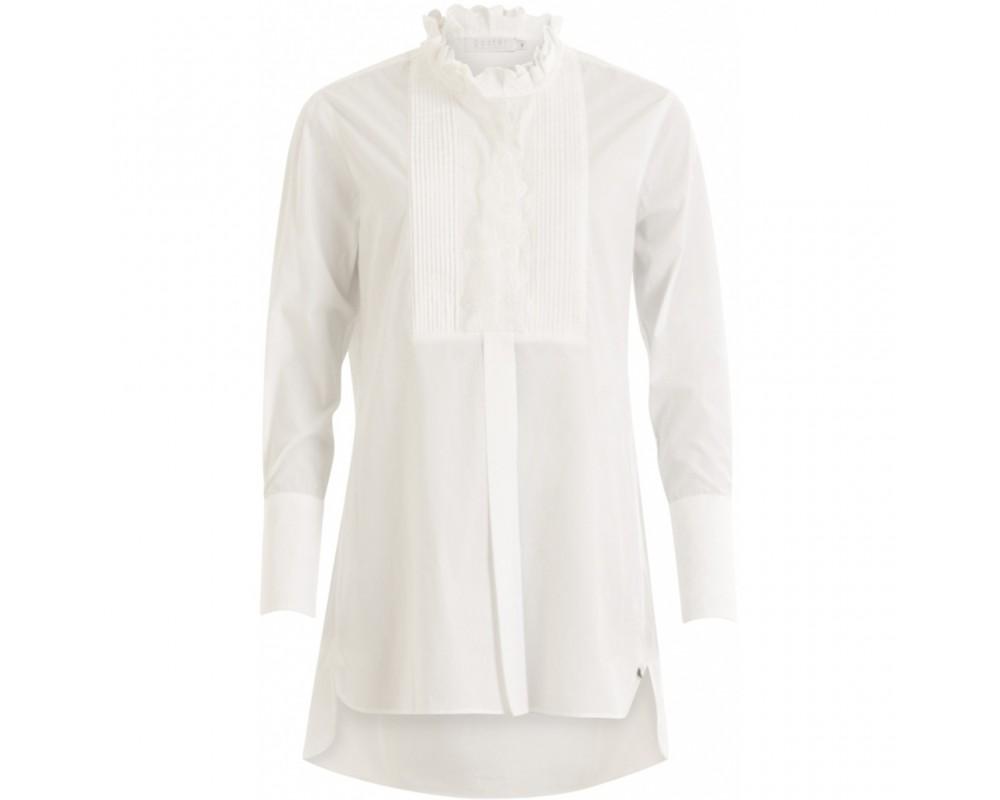 bluse hvid med blonder coster copenhagen