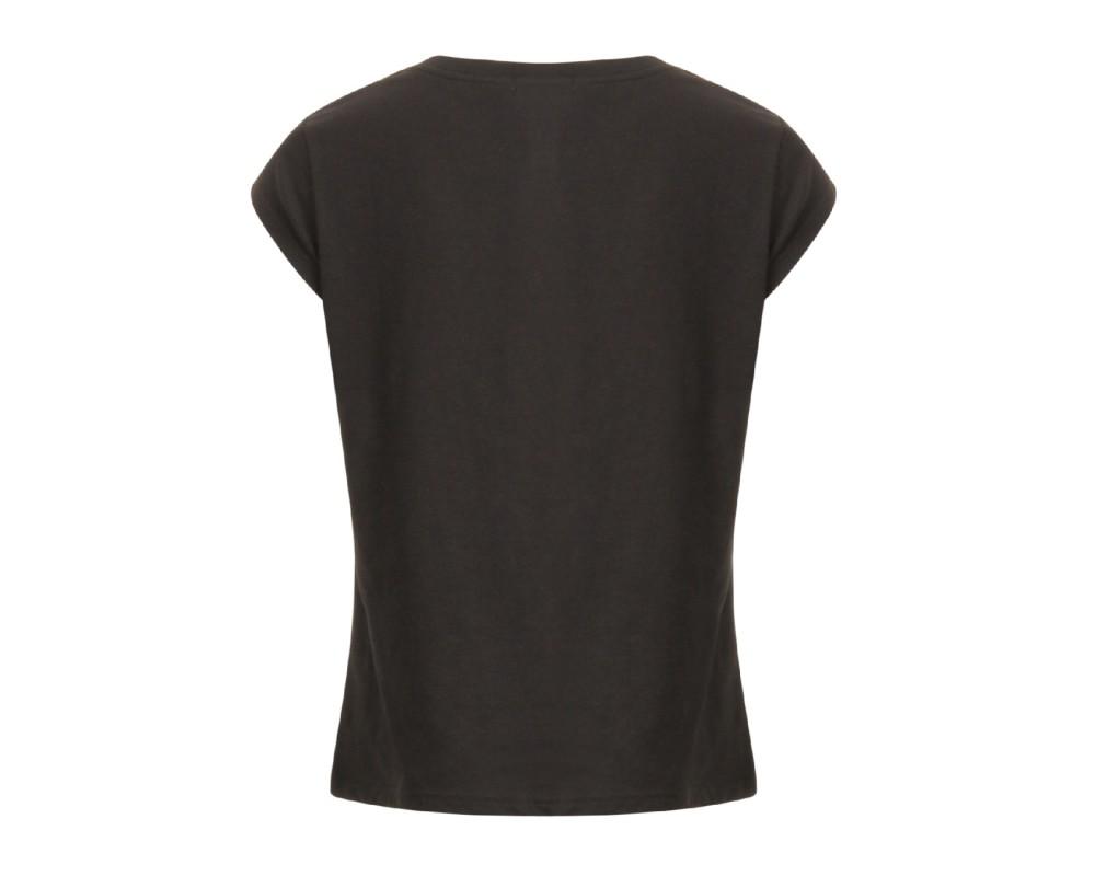 sort dame t-shirt med print coster copenhagen