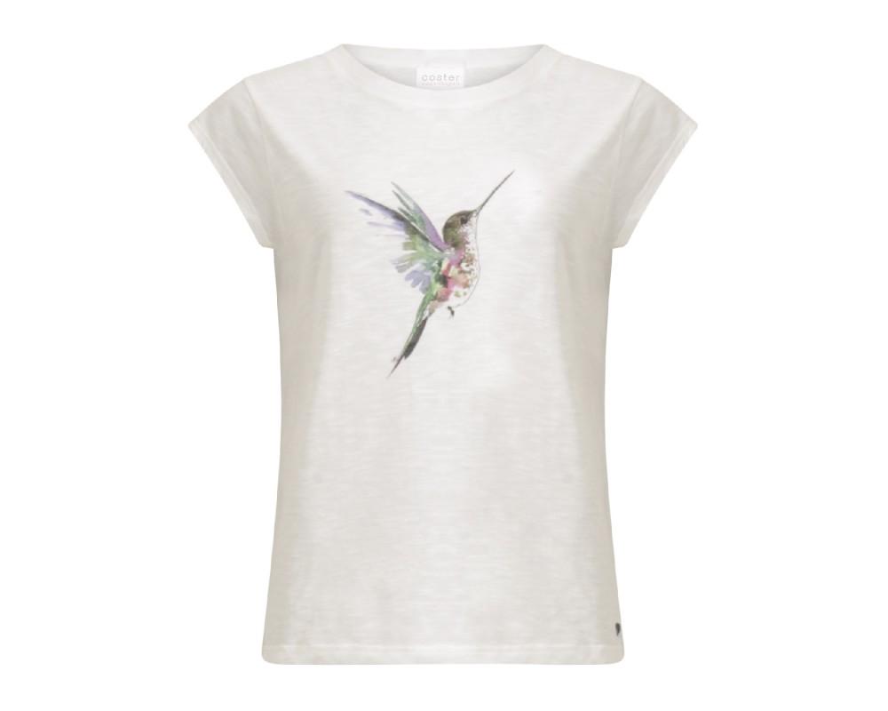 hvid t-shirt med print coster copenhagen