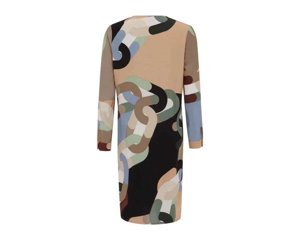 langærmet kjole i unika print coster copenhagen