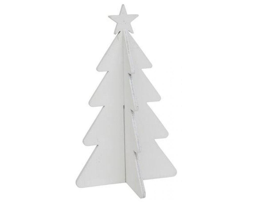 Ib Laursen Juletræ med stjerne Hvid 20 cm-31