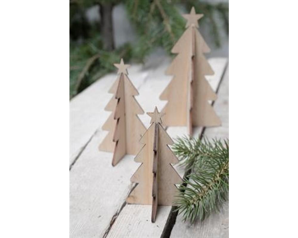 Ib Laursen Juletræ med stjerne Natur 16 cm-31