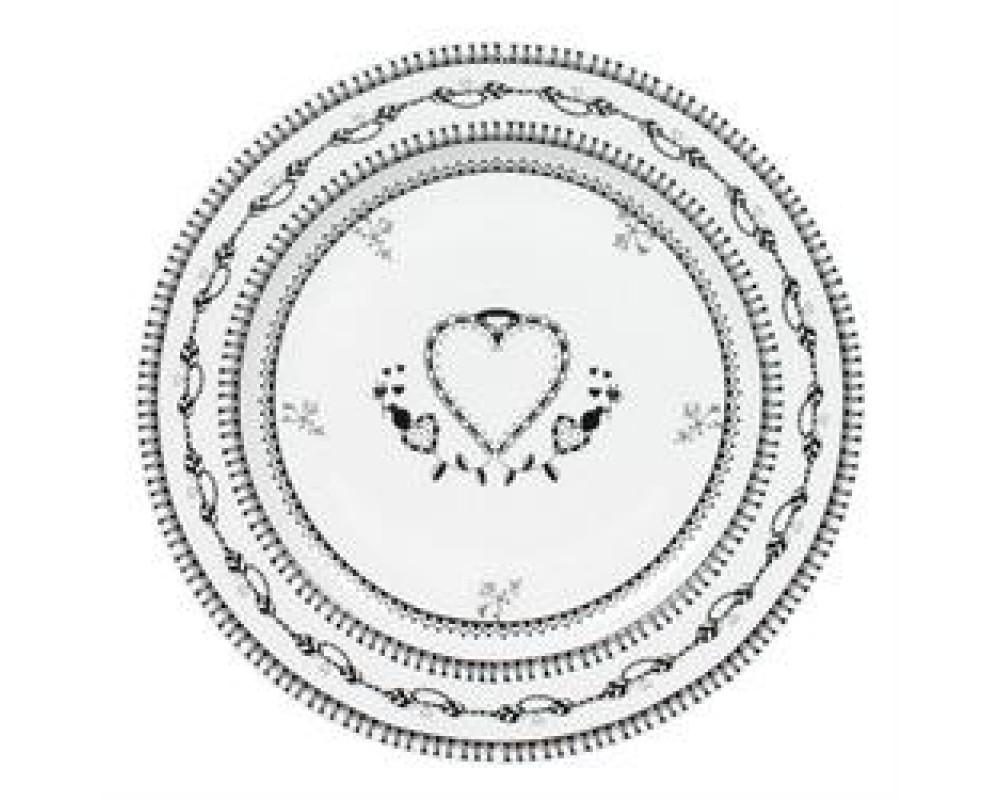 Tallerken Heart White 16,5-31