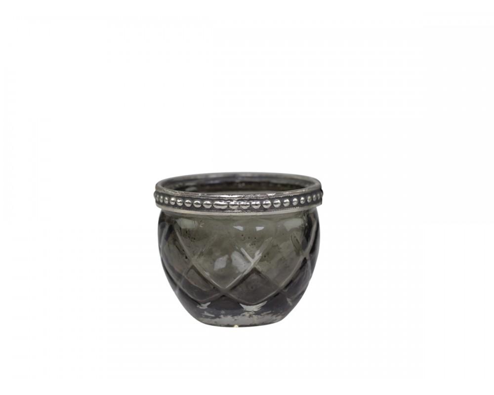 Fyrfadsstage med perlekant fra Chic Antique 71521-25