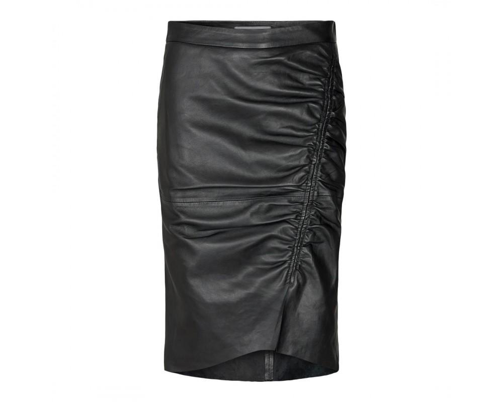 sort læder nederdel co couture