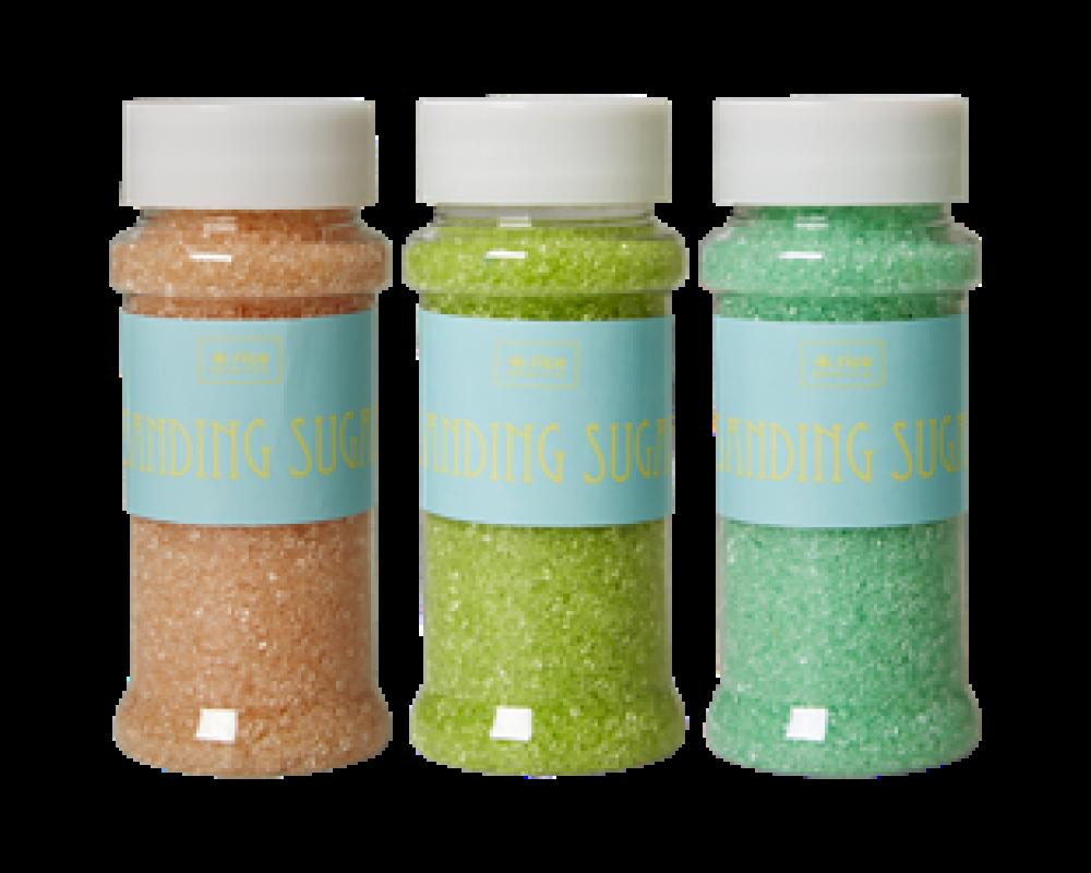 Rice Farvet Dekorations Sukker i 3 Forskellige Farver.-31