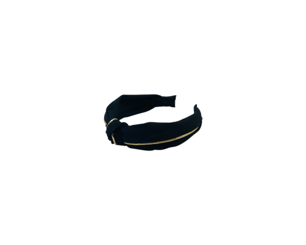 Black Colour Headband black/gold