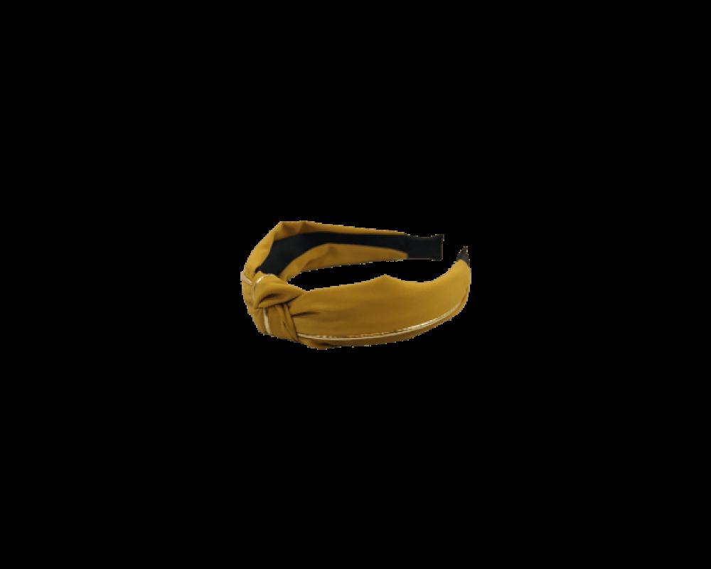 Black Colour Headband mustard gold