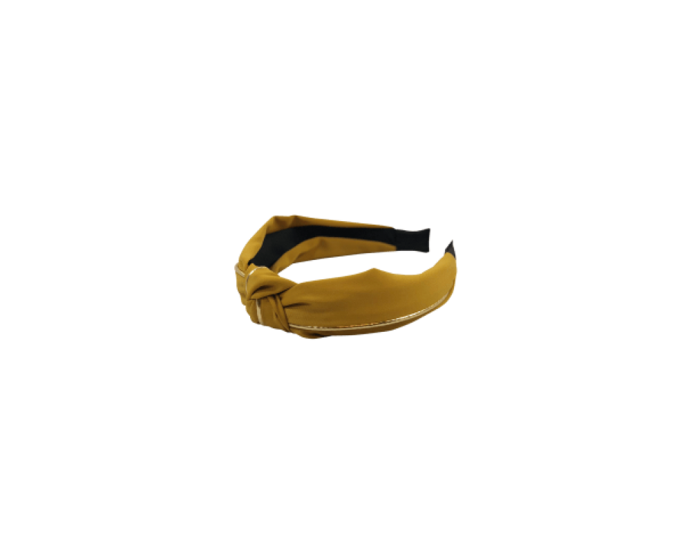 Black Colour Headband mustard gold