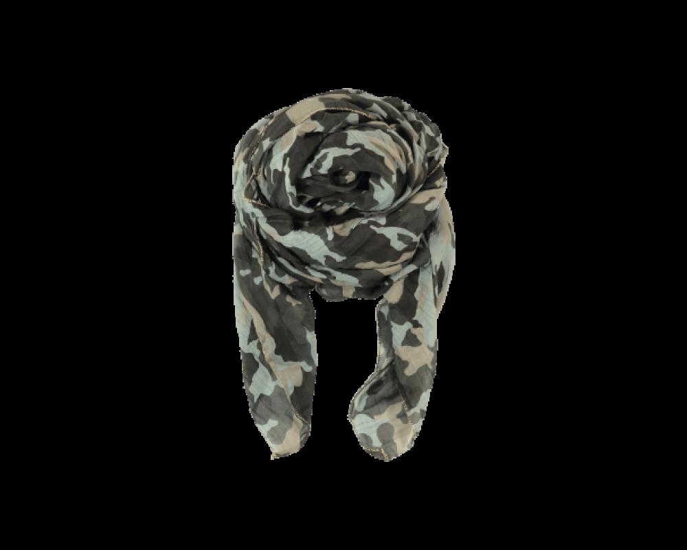 Black Colour Camo scarf