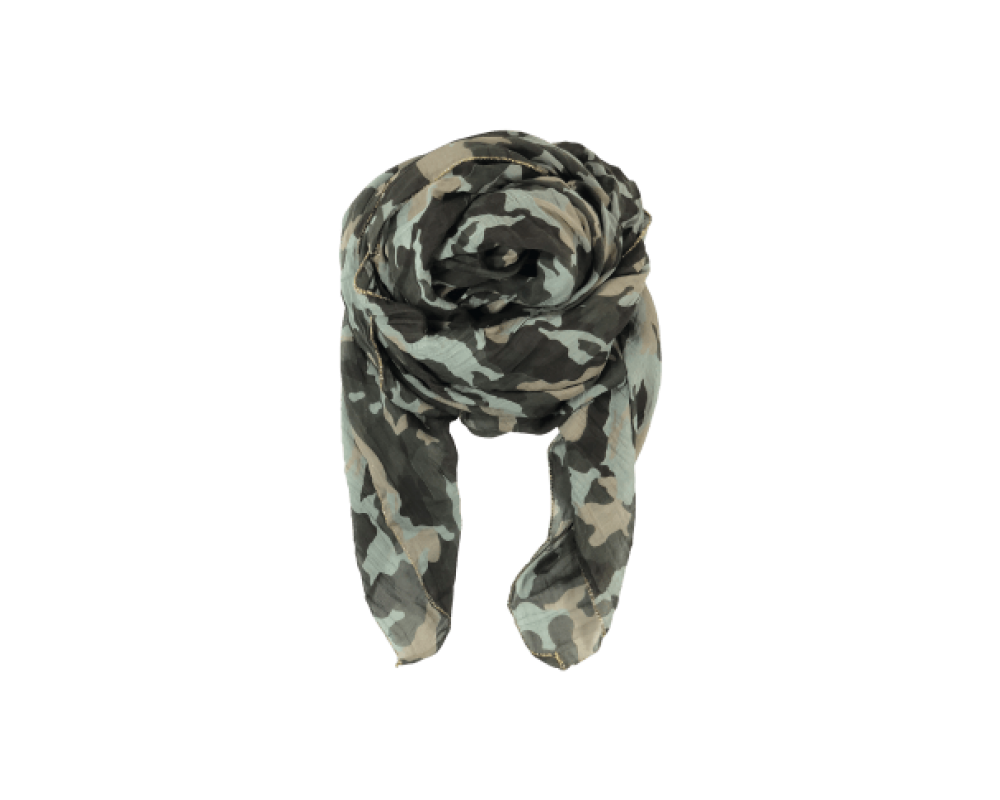 Black Colour Camo scarf