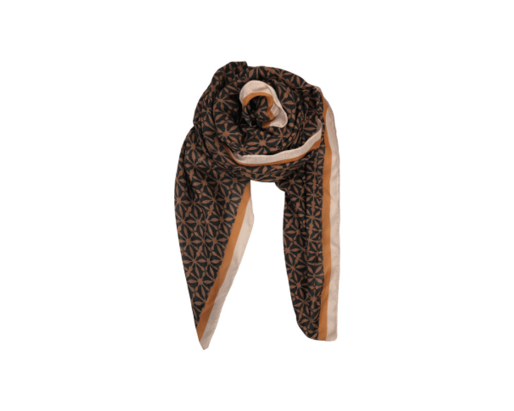 Black Colour scarf Palazzo camel
