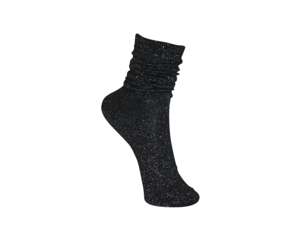 Black Colour Sock lurex black