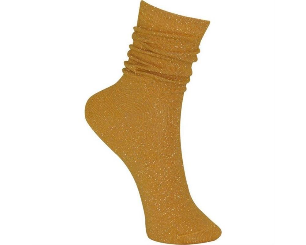 Black Colour Sock lurex yellow