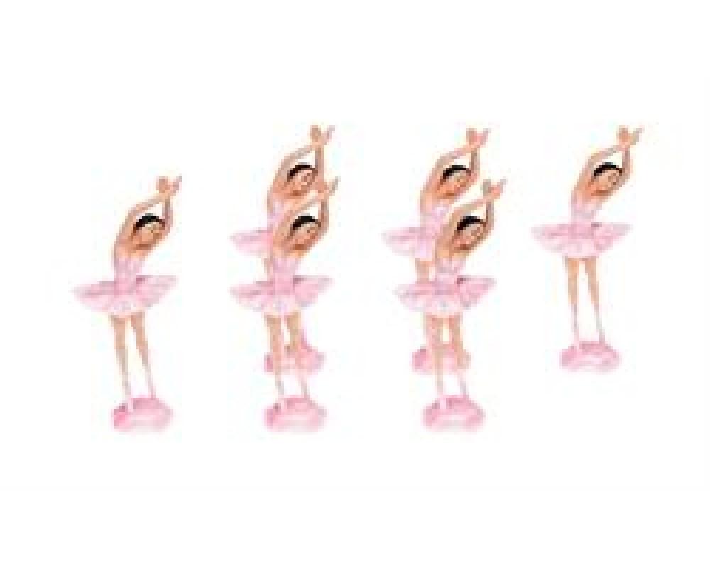BallerinakagedekorationRosast6stk-31