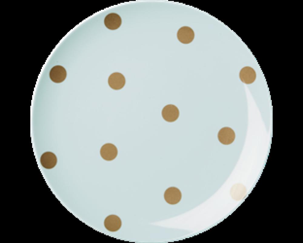 RiceMelaminTallerkenMGuldPolkaPrikker3AssPastelfarver-31