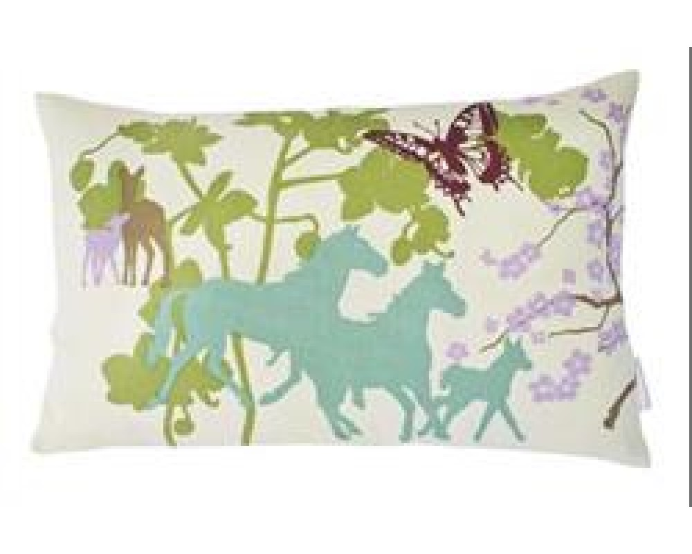 Susanne Schjerning Pude Happy Horses Green-31