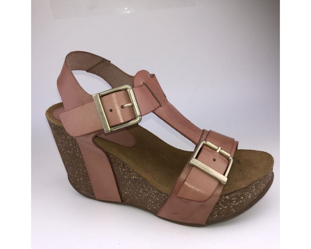 Amust wedge sandal rosa