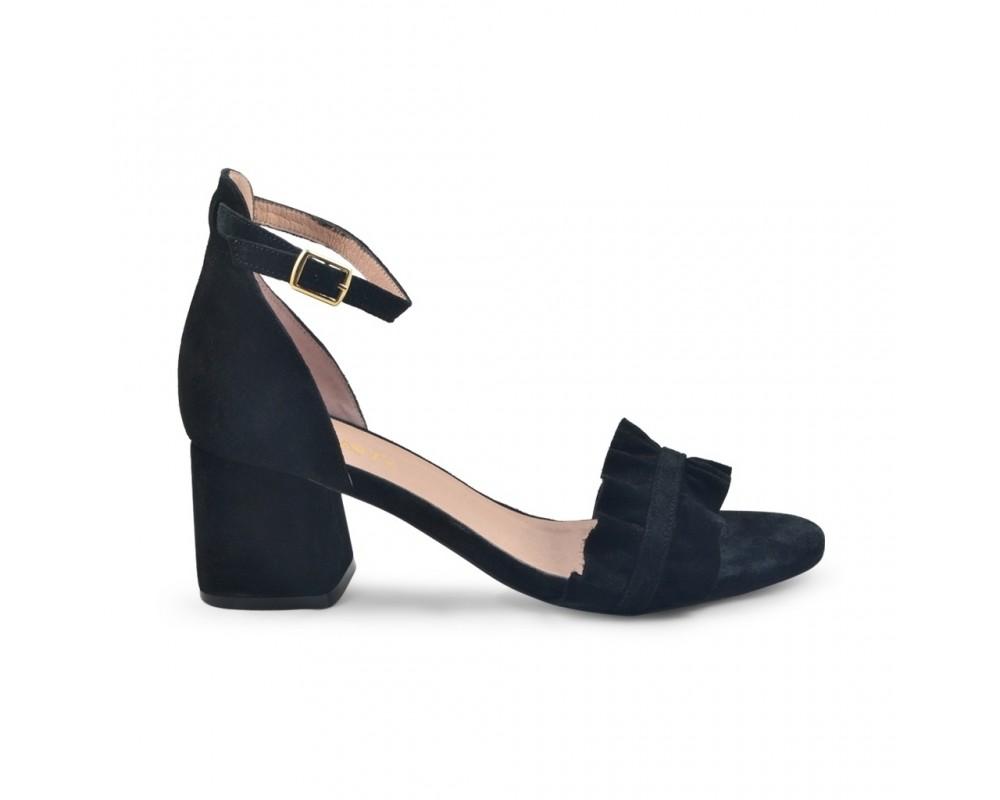 høj sandal ruskind sort amust