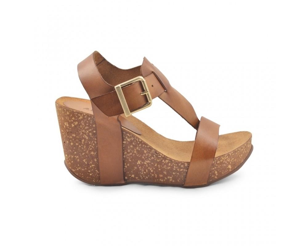 høj sandal med wedge hæl amust
