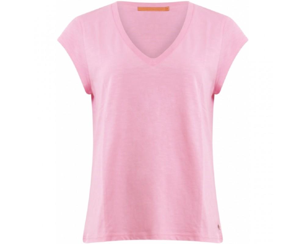 T-shirt med v-hals coster copenhagen pink