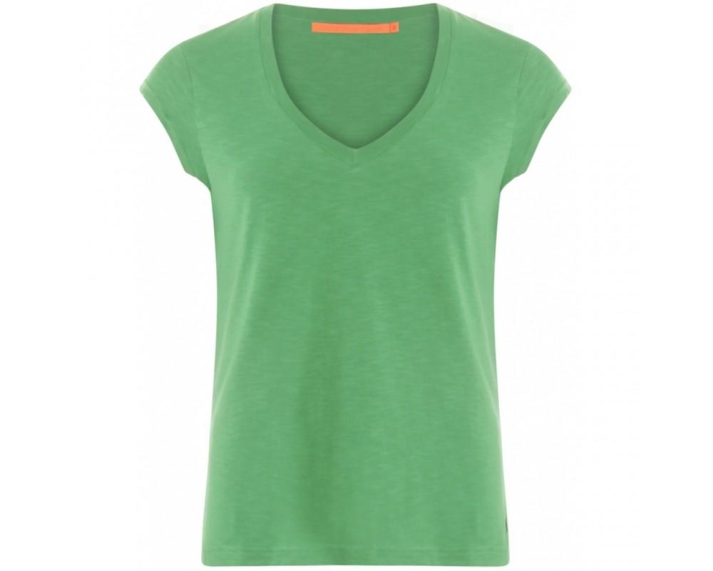 T-shirt med v-hals coster copenhagen grøn