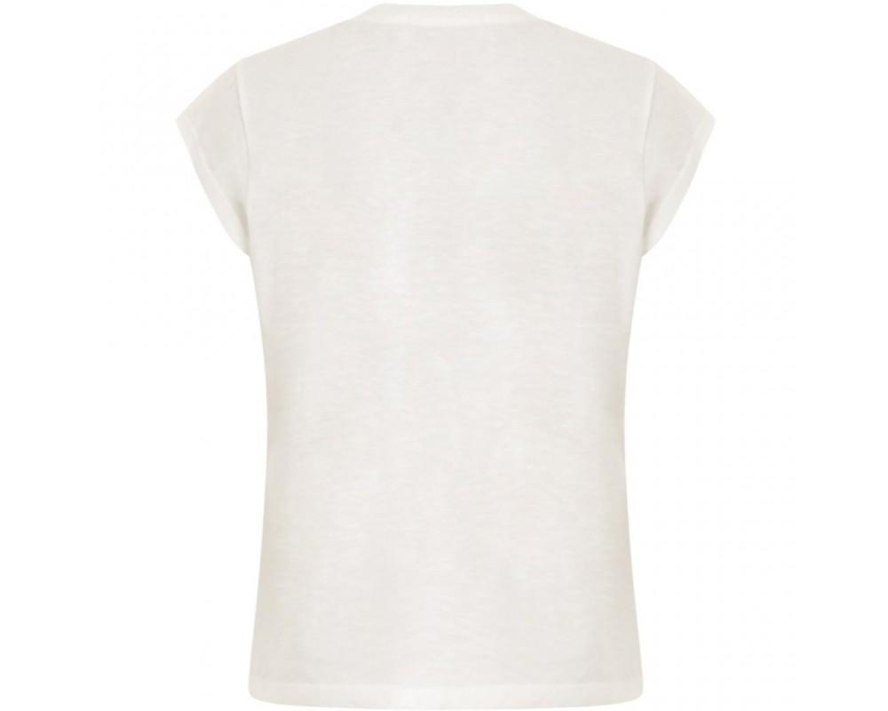 t-shirt med v-hals hvid coster copenhagen