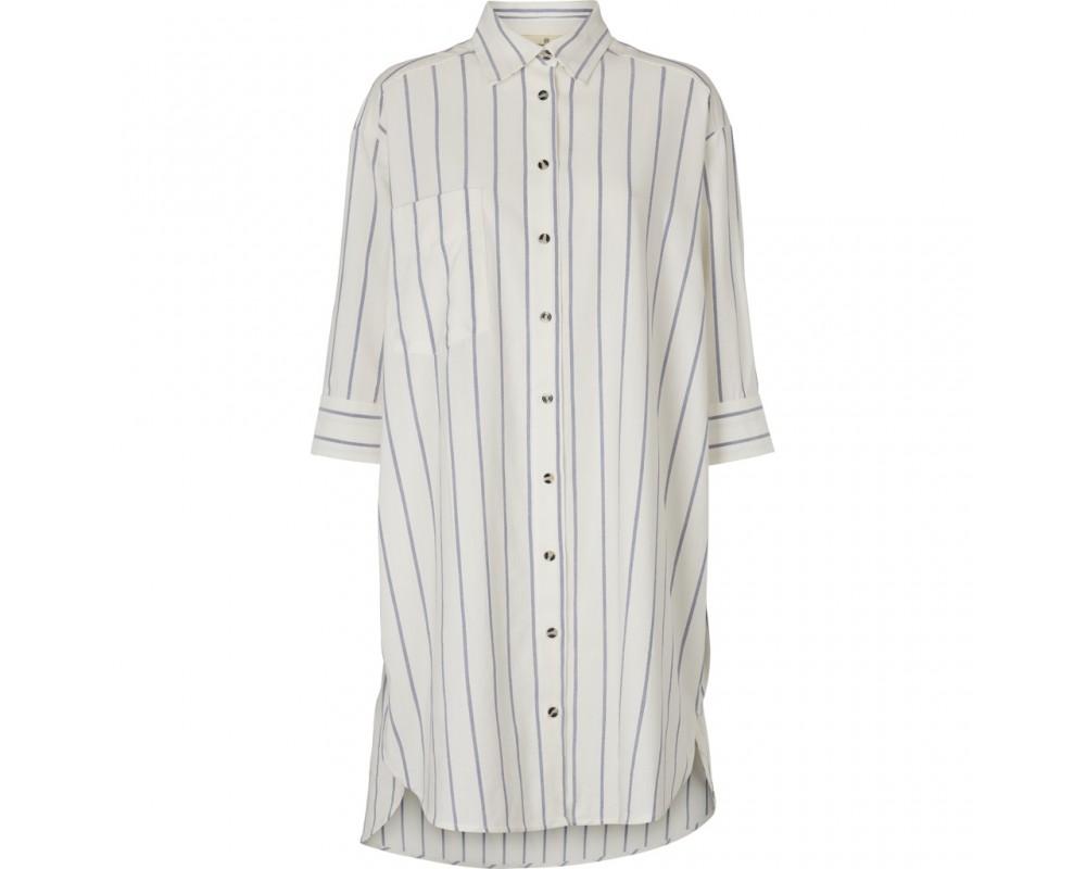 oversize skjorte blåstribet basic apparel
