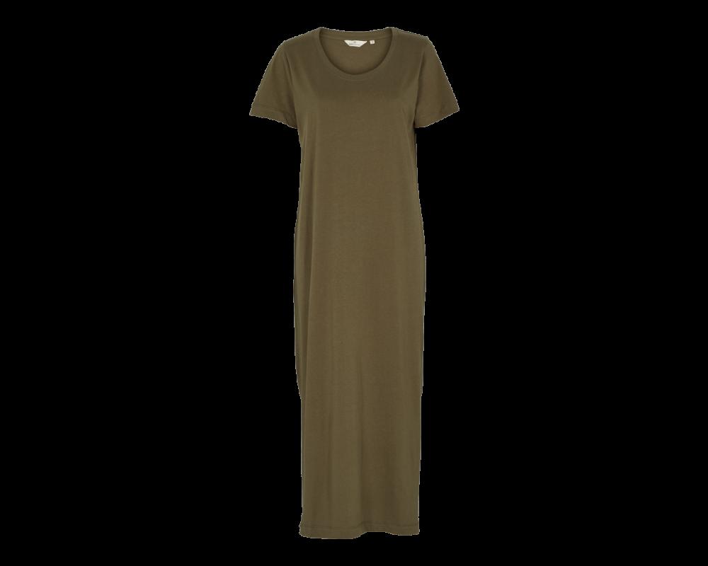 t-shirt kjole rebakka army basic apparel