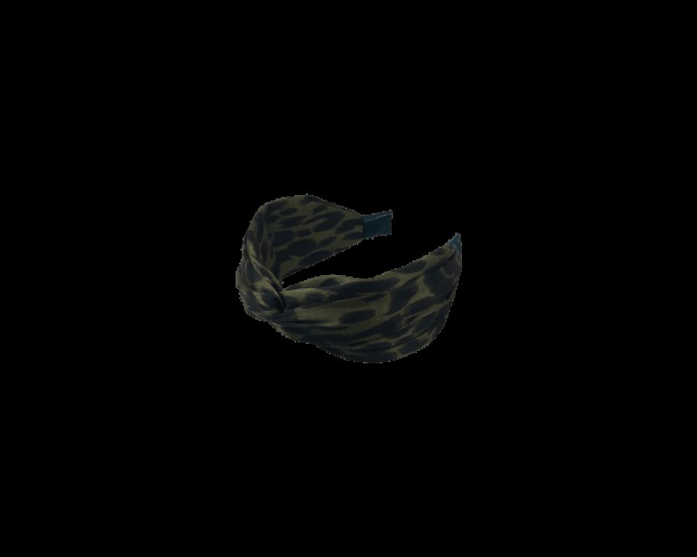 Black Colour hårbånd MILA LEO army