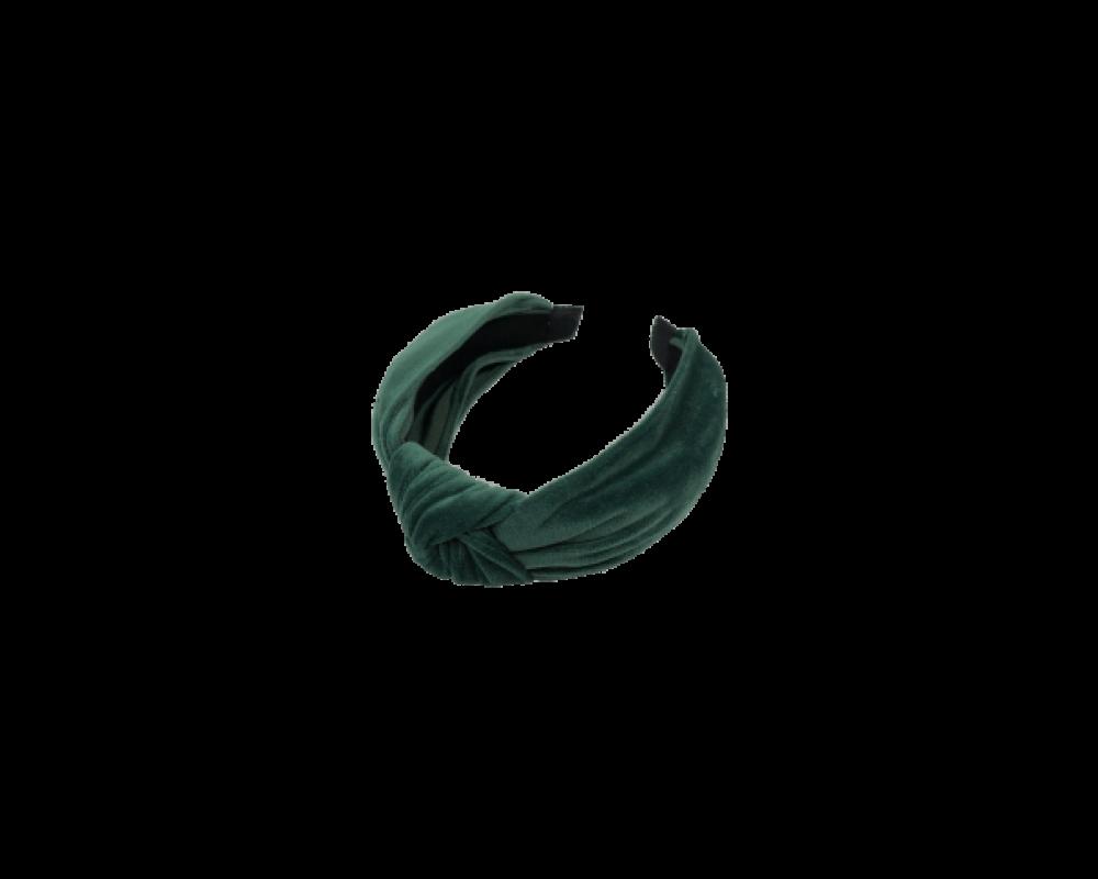 Black Colour velour hårbøjle grøn-30