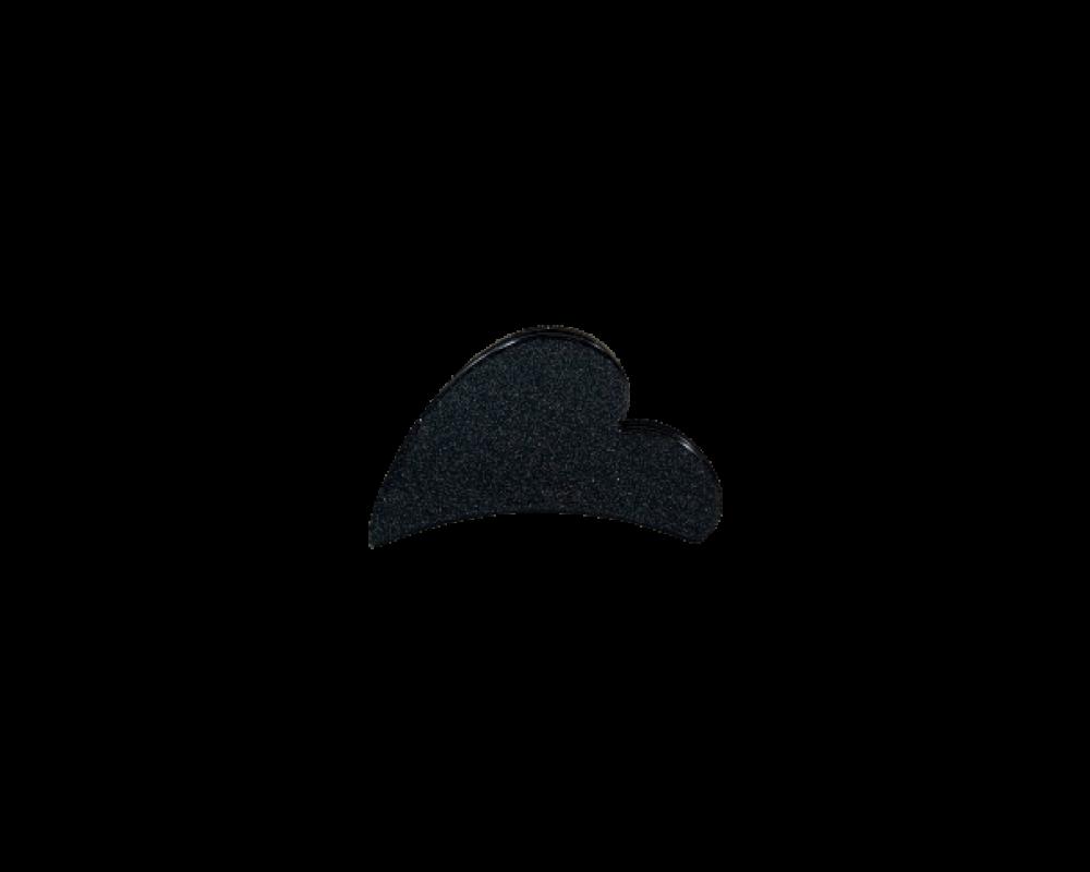 Black Colour hjerte hårklemme