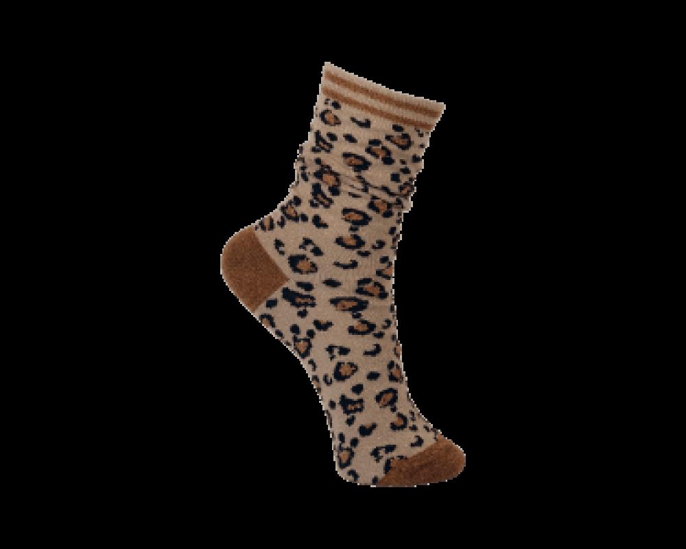 Black Colour strømper leopard