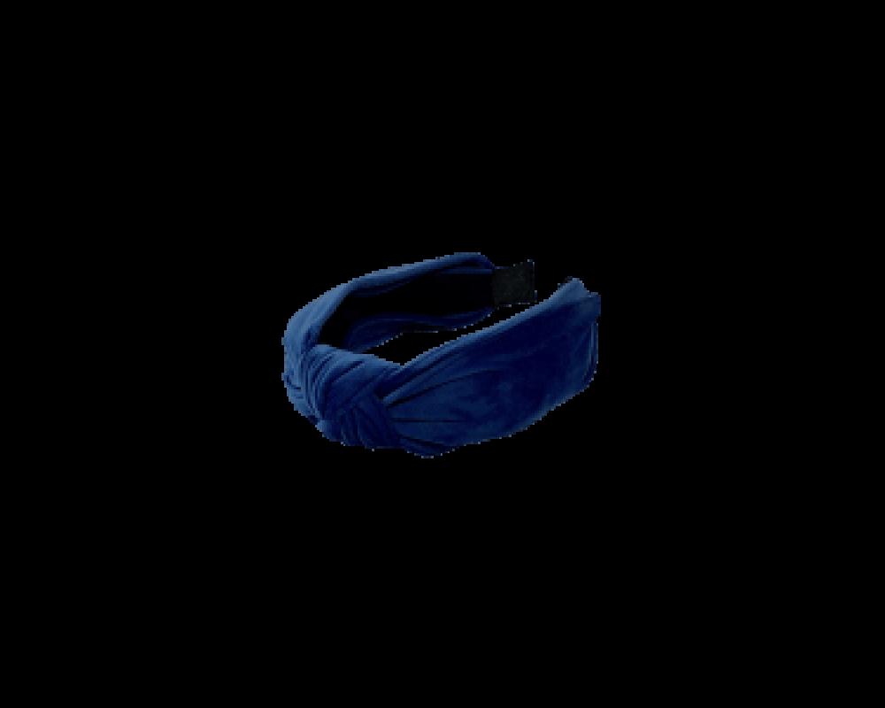 Black Colour fløjl hårbøjle navy