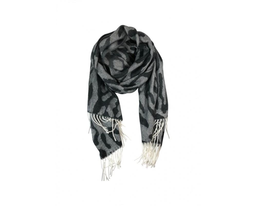 tørklæde i leoprint black colour