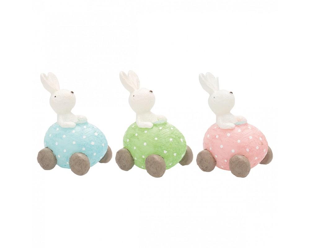 GreenGate kanin i bil | Dekorativt lys til påske
