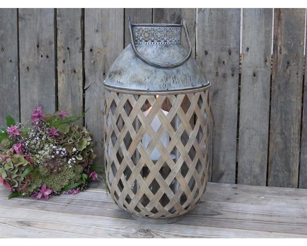 Chic Antique Fransk lanterne Bambus-31