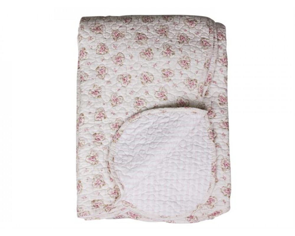 Chic Antique quilt med roser og striber 16753-19