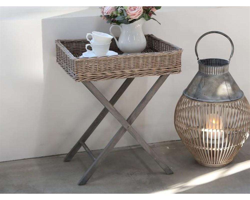 Chic Antique Bakkebord i flet fransk grå-31