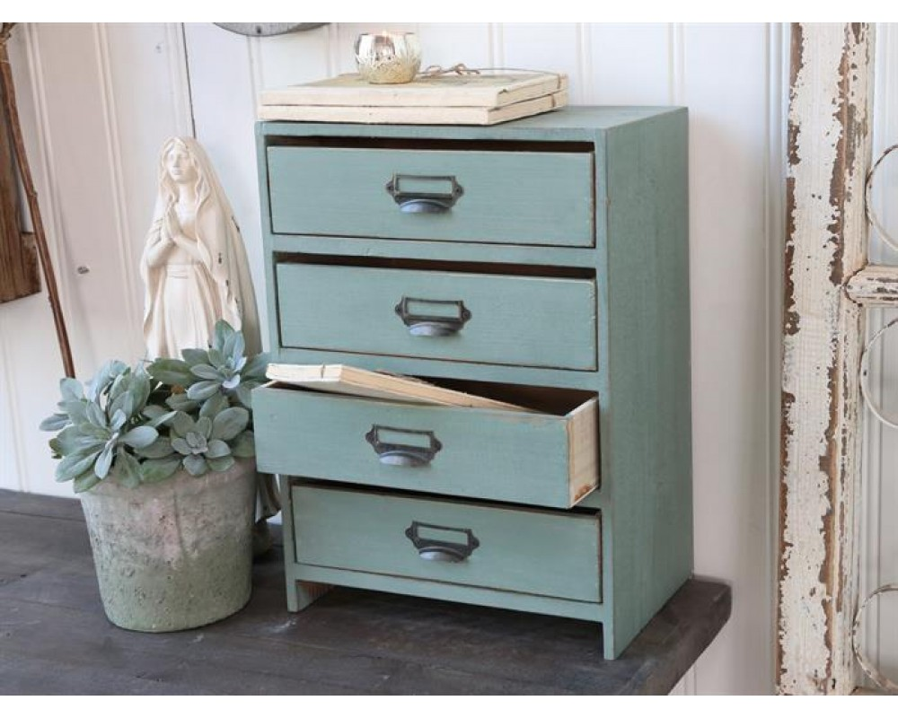 Chic Antique Brevordner Antique verte-31