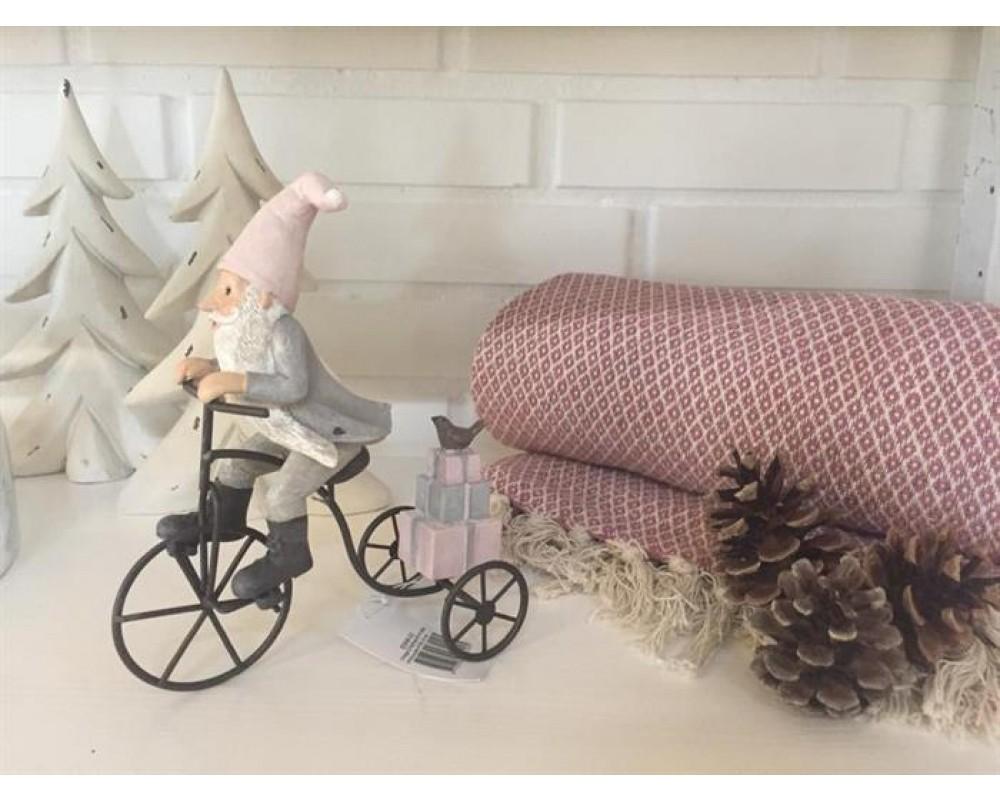 Chic Antique Vintage julenisse på cykel-31